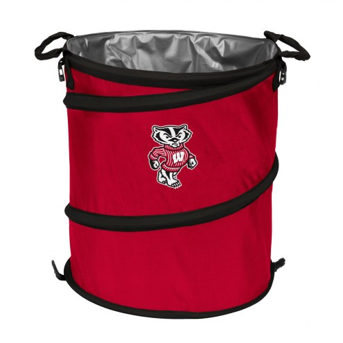 Wisconsin Badgers Collapsible Trashcan