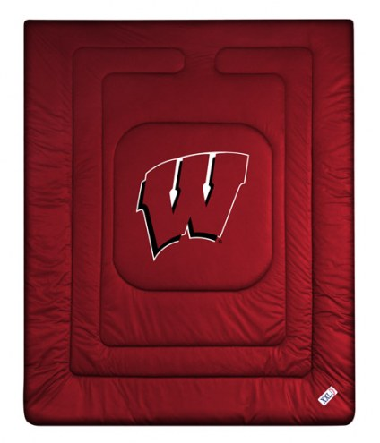 Wisconsin Badgers NCAA Twin Jersey Comforter