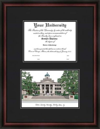 Western Kentucky University Diplomate Framed Lithograph with Diploma Opening
