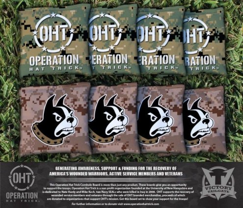 Wofford Terriers Operation Hat Trick Cornhole Bag Set