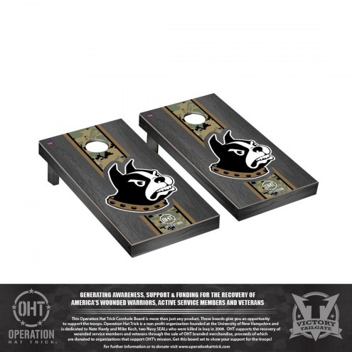 Wofford Terriers Operation Hat Trick Onyx Stained Cornhole Game Set