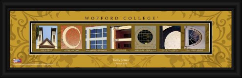 Wofford Terriers Personalized Campus Letter Art