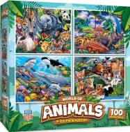 World of Animals 4-pack 100 Piece Puzzles