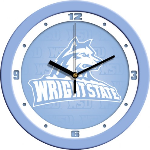 Wright State Raiders Baby Blue Wall Clock
