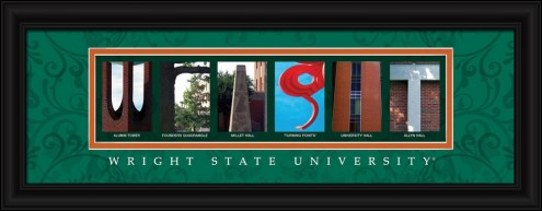 Wright State Raiders Campus Letter Art
