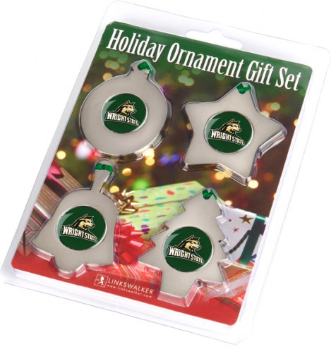 Wright State Raiders Christmas Ornament Gift Set