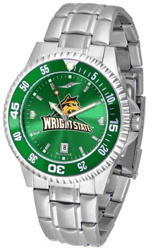 Wright State Raiders Competitor Steel AnoChrome Color Bezel Men's Watch