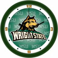Wright State Raiders Dimension Wall Clock