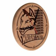 Wright State Raiders Laser Engraved Wood Clock