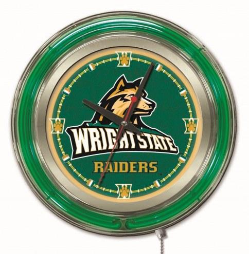 Wright State Raiders Neon Clock