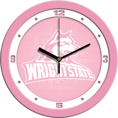 Wright State Raiders Pink Wall Clock