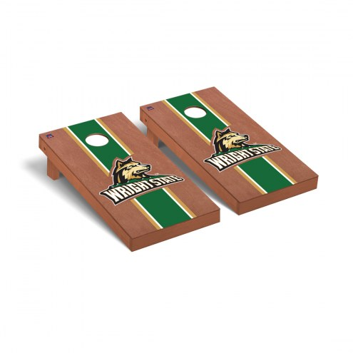 Wright State Raiders Rosewood Stained Cornhole Game Set