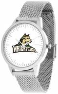 Wright State Raiders Silver Mesh Statement Watch