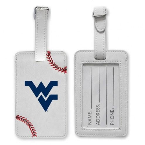 WVU Mountaineers Baseball Luggage Tag