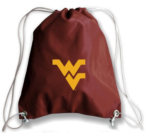 WVU Mountaineers Football Drawstring Bag