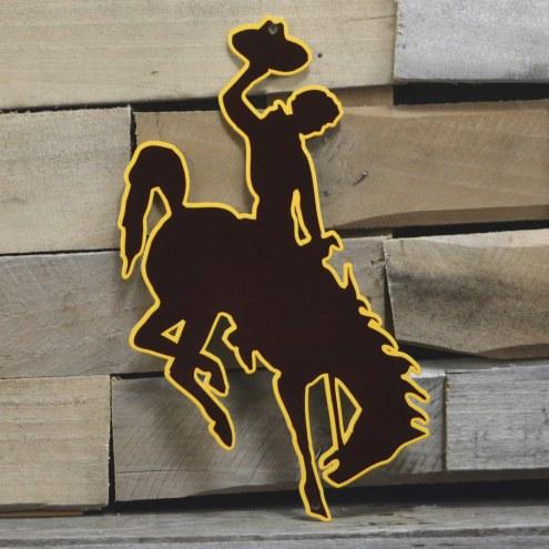 "Wyoming Cowboys 12"" Steel Logo Sign"