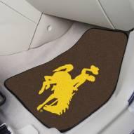 Wyoming Cowboys 2-Piece Carpet Car Mats