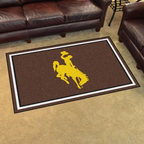 Wyoming Cowboys 4' x 6' Area Rug