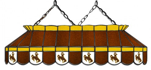 """Wyoming Cowboys 40"""" Stained Glass Pool Table Light"""