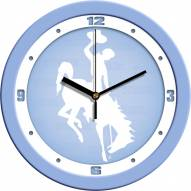 Wyoming Cowboys Baby Blue Wall Clock