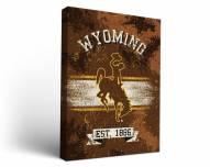 Wyoming Cowboys Banner Canvas Wall Art