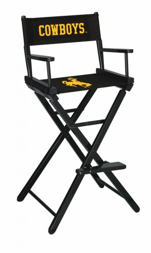 Wyoming Cowboys Bar Height Director's Chair