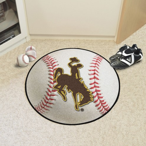 Wyoming Cowboys Baseball Rug