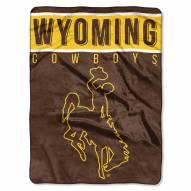 Wyoming Cowboys Basic Plush Raschel Blanket