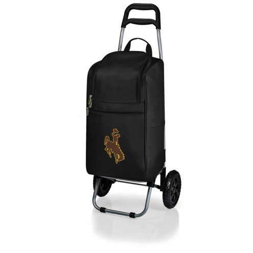 Wyoming Cowboys Black Cart Cooler
