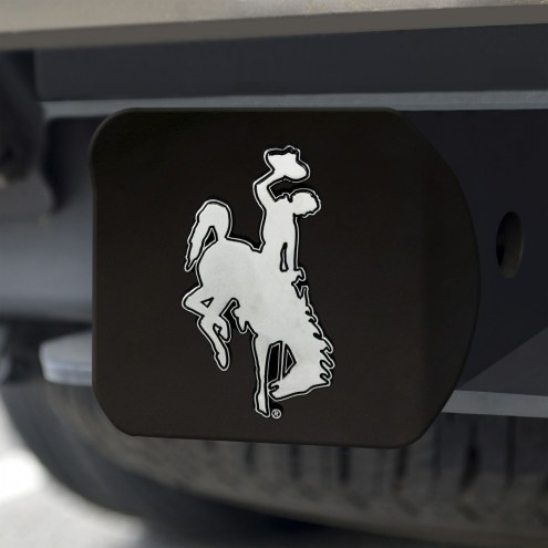 Wyoming Cowboys Black Matte Hitch Cover