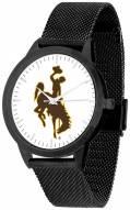 Wyoming Cowboys Black Mesh Statement Watch