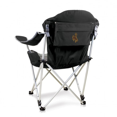 Wyoming Cowboys Black Reclining Camp Chair
