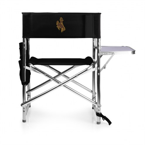 Wyoming Cowboys Black Sports Folding Chair