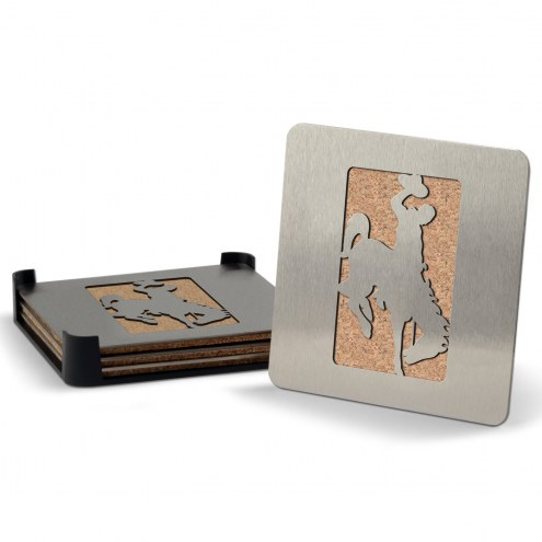 Wyoming Cowboys Boasters Stainless Steel Coasters - Set of 4