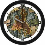Wyoming Cowboys Camo Wall Clock