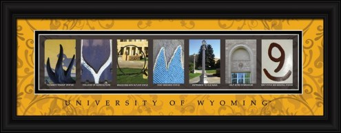 Wyoming Cowboys Campus Letter Art