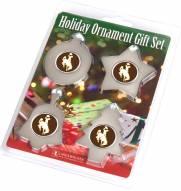 Wyoming Cowboys Christmas Ornament Gift Set