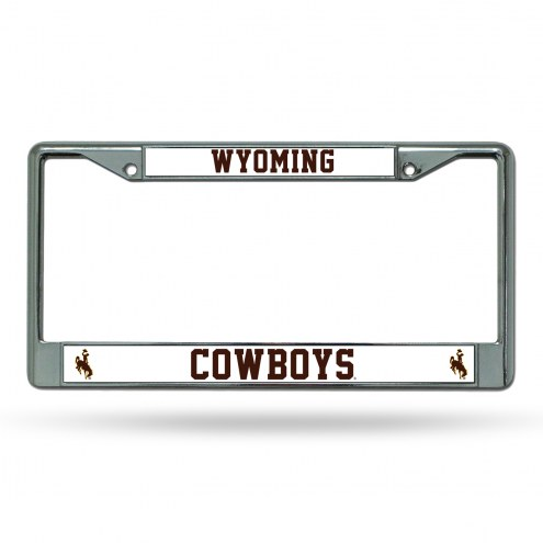 Wyoming Cowboys College Chrome License Plate Frame