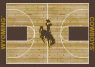 Wyoming Cowboys College Home Court Area Rug
