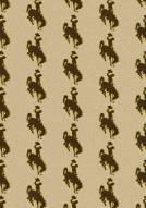Wyoming Cowboys College Repeat Area Rug
