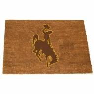 Wyoming Cowboys Colored Logo Door Mat