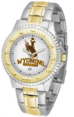Wyoming Cowboys Competitor Two-Tone Men's Watch
