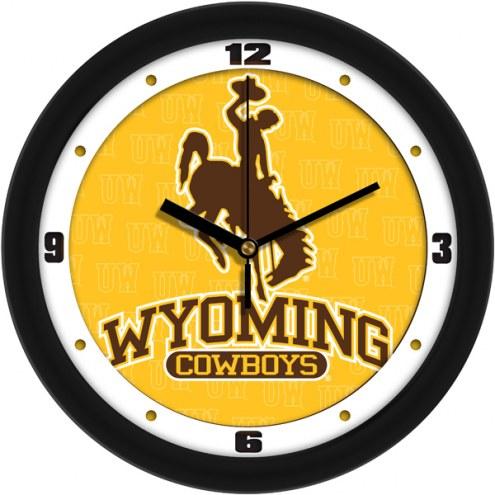 Wyoming Cowboys Dimension Wall Clock