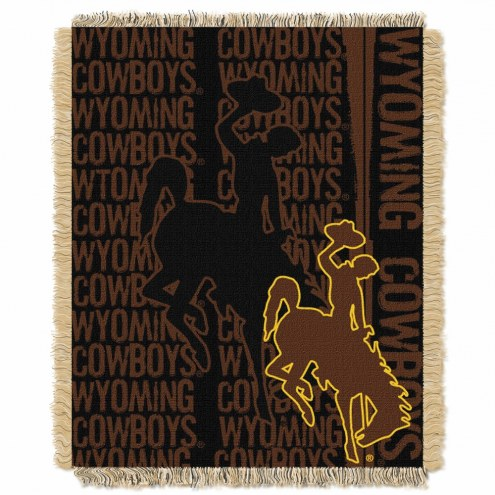 Wyoming Cowboys Double Play Woven Throw Blanket