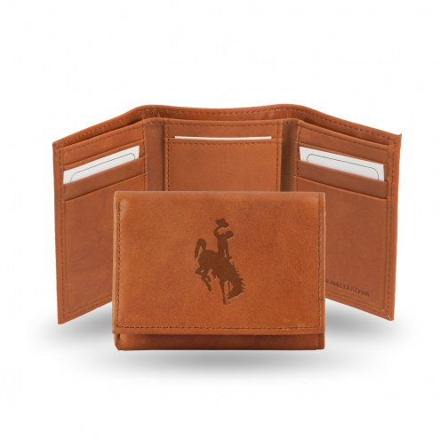 Wyoming Cowboys Embossed Tri-Fold Wallet