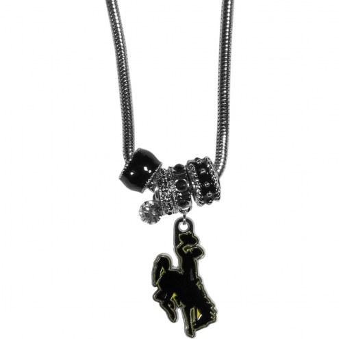 Wyoming Cowboys Euro Bead Necklace