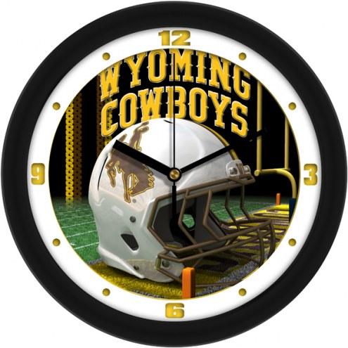 Wyoming Cowboys Football Helmet Wall Clock
