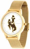 Wyoming Cowboys Gold Mesh Statement Watch