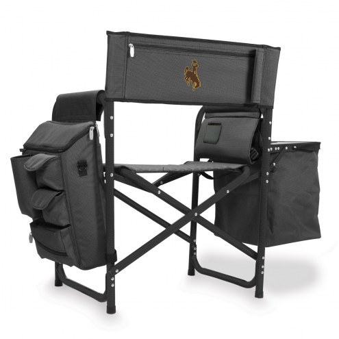 Wyoming Cowboys Gray/Black Fusion Folding Chair