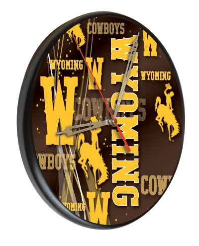 Wyoming Cowboys Digitally Printed Wood Clock